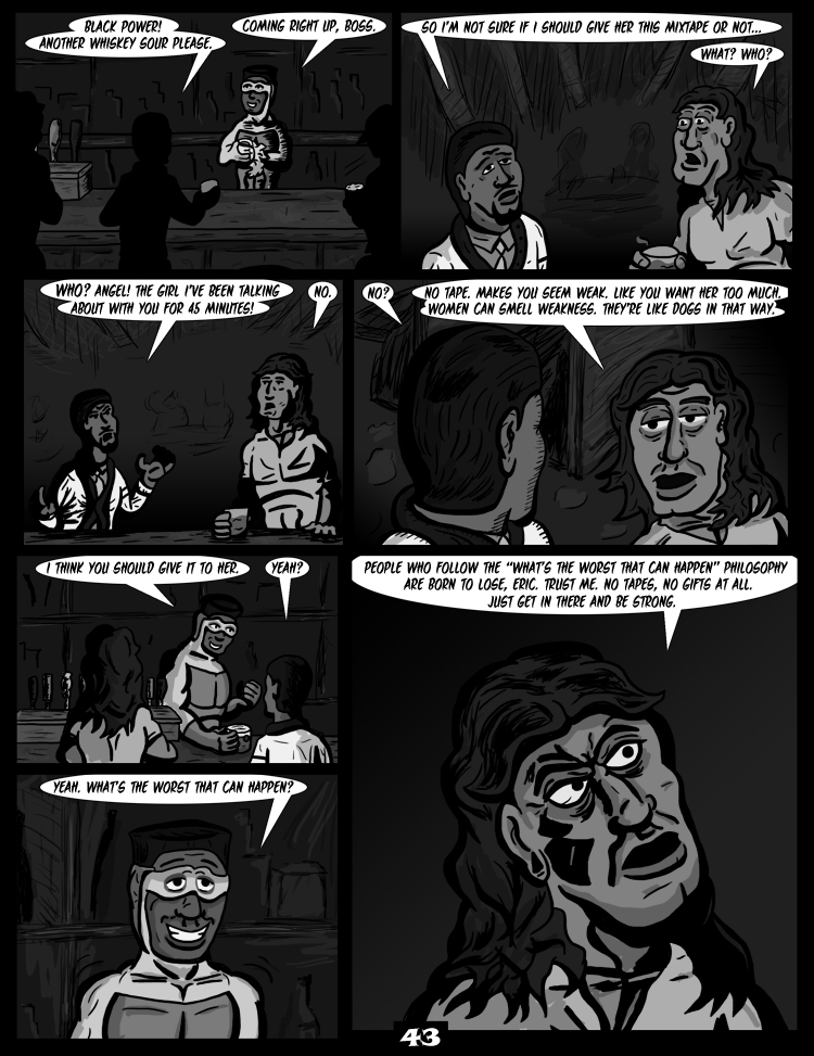 Black Snow: Two Drink Minimum page 43