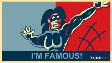 I'M FAMOUS! Obama hope poster desktop background