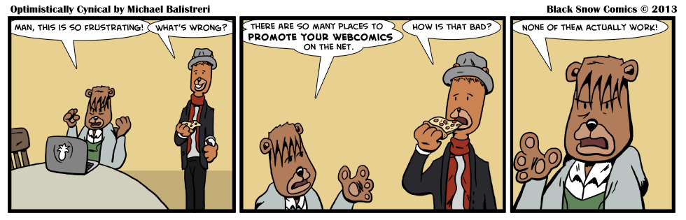 Promoting Webcomics - Optimistically Cynical